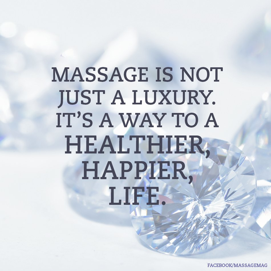 Massage is a way to a healthier, happier life. #HappyFriday! https://t.co/4l5tTJMdeP
