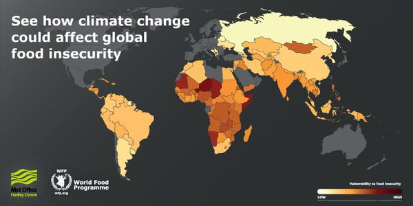 How can #ClimateChange affect food insecurity around the world? See @WFP interactive map https://t.co/b7H67gLlr5 https://t.co/J6hrjDUdrr