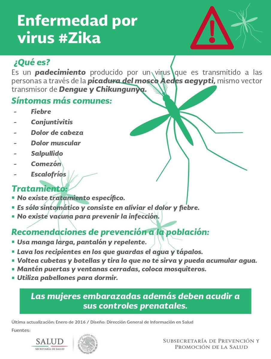 Salud Mexico على تويتر Sabiasque El Virus Zika Se