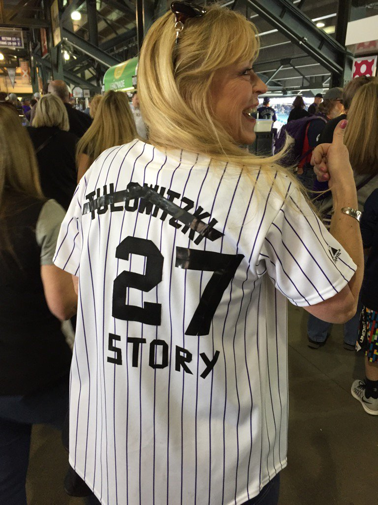 Season-ticket holders Cheryl and George McLaughlin made their own Trevor Story jerseys before Colorado's home opener https://t.co/Y82cgHBdZ5