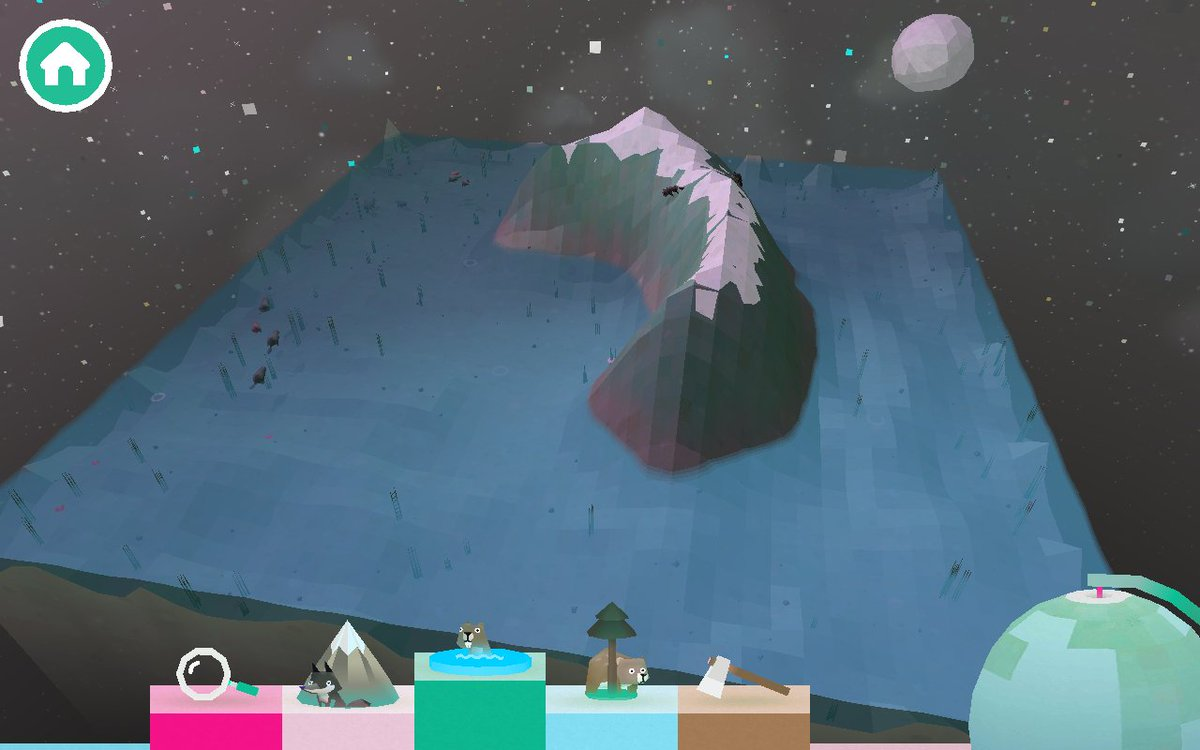 子供向けの箱庭創造ゲームで遊んでる。めちゃくちゃ楽しくて美しくて最高