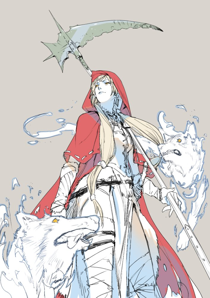 死霊術師・赤ずきん -ハルバードの女-  フェンリル復活により各地の動物が狂暴化し彼女のおばあさんは狼に食べられてしまう。赤ずきんは復讐を果たせるのか… https://t.co/Em7XsdZF0K