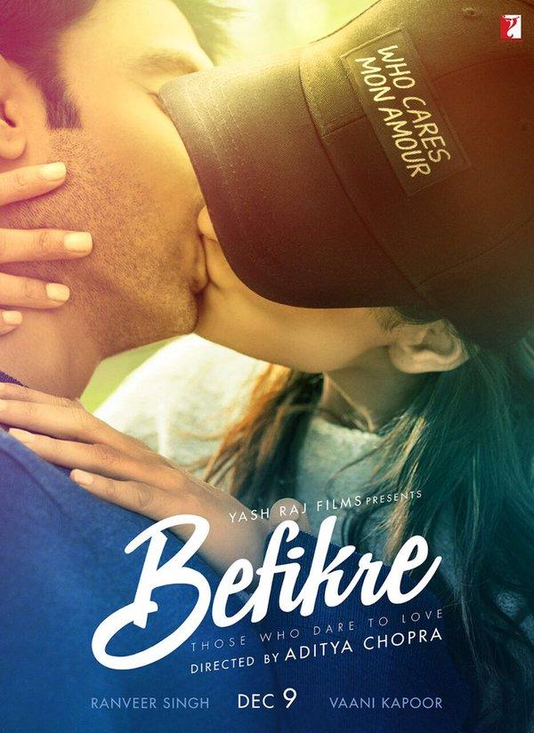 Befikre First Look Poster starring Ranveer Singh, Vaani Kapoor