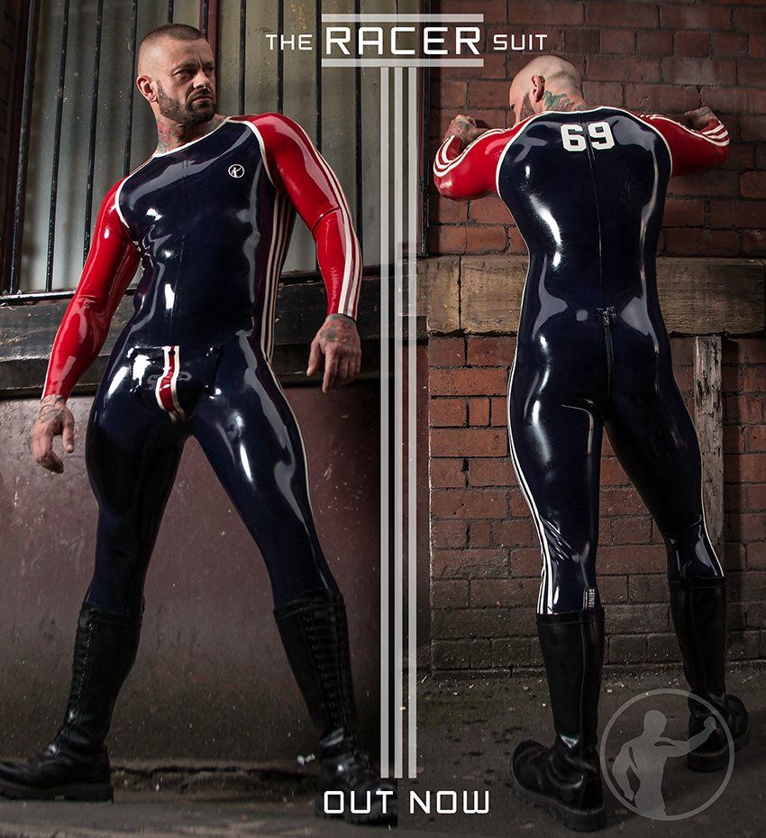 invincible rubber on twitter win this racer suit at the manchester rubber weekend mrm7. Black Bedroom Furniture Sets. Home Design Ideas