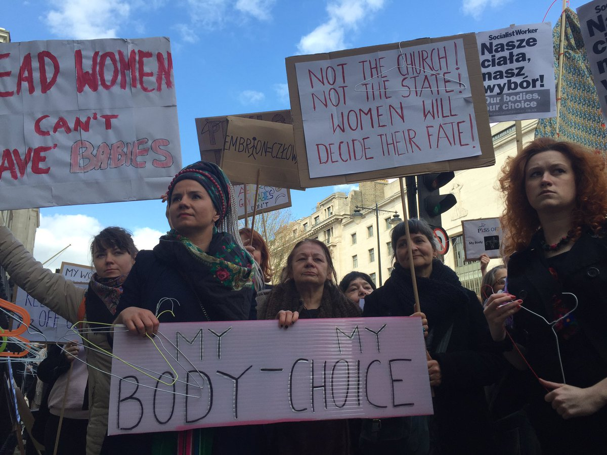 Thousands Rally Against Tightening of Polish Abortion Law