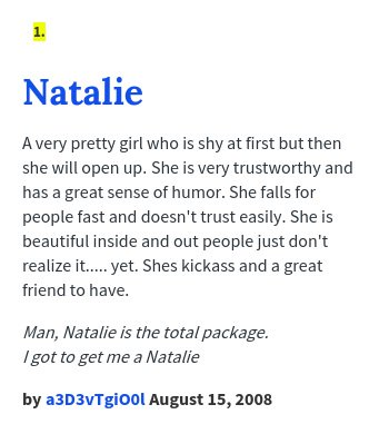 What Does Natalie Mean In The Urban Dictionary