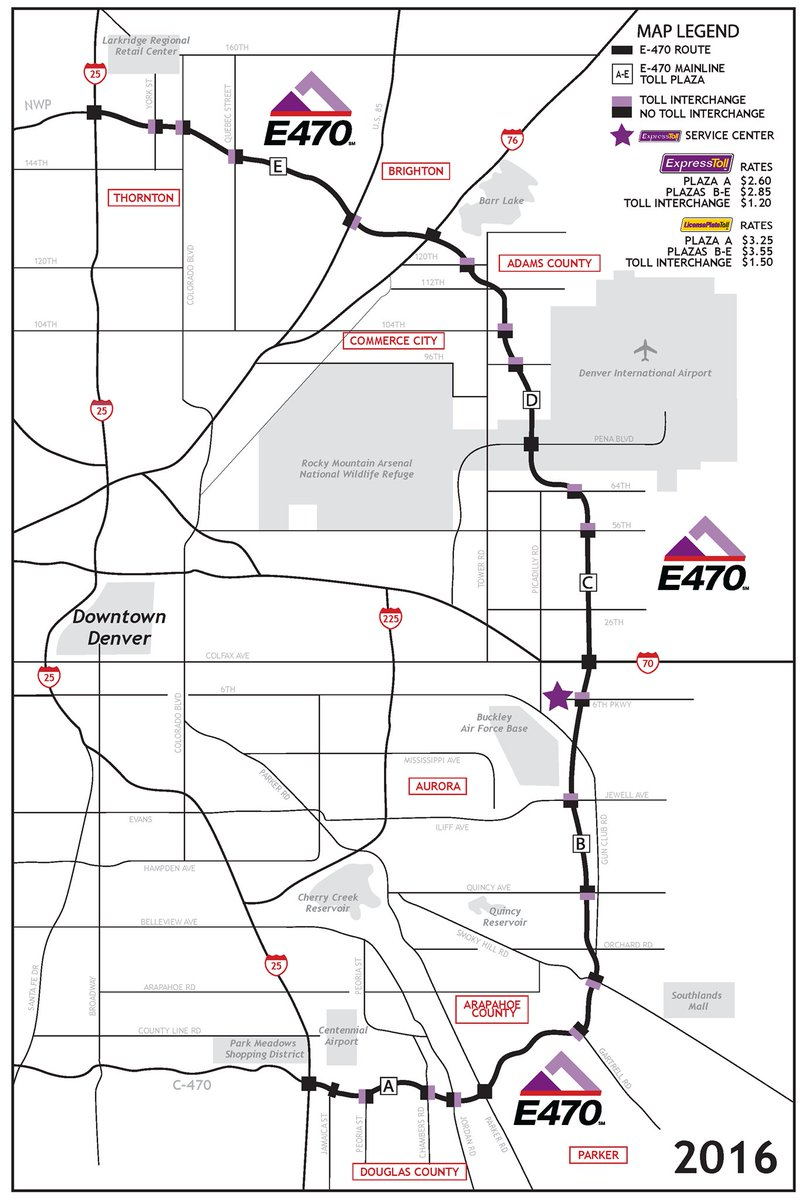 E 470 Toll Map E 470 on Twitter: