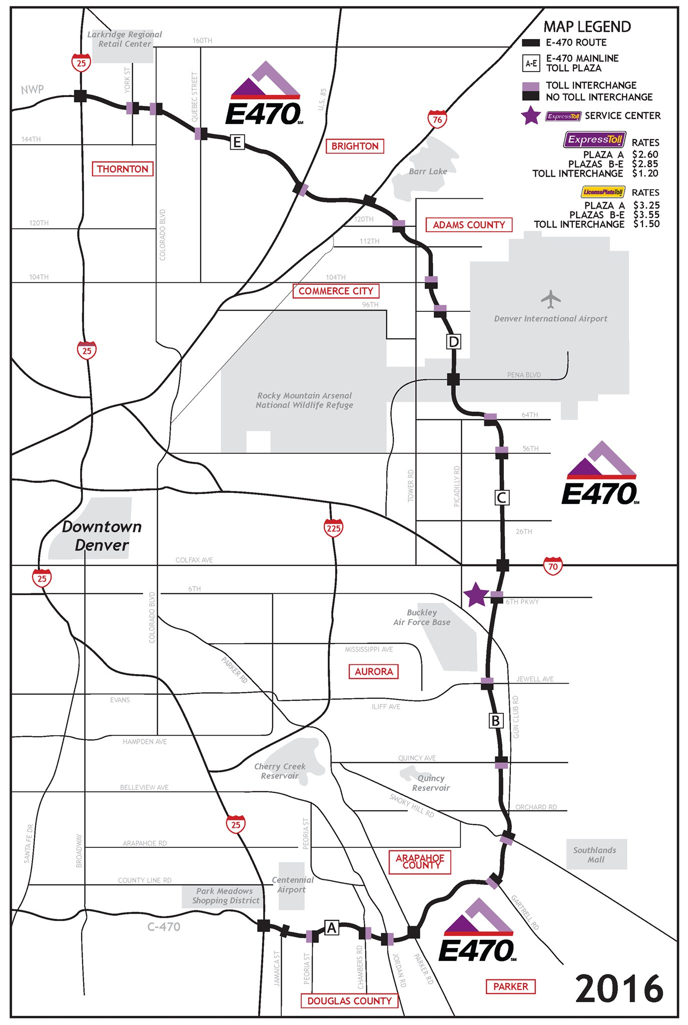 e 470 on plan your e470 trip see the map with tolling
