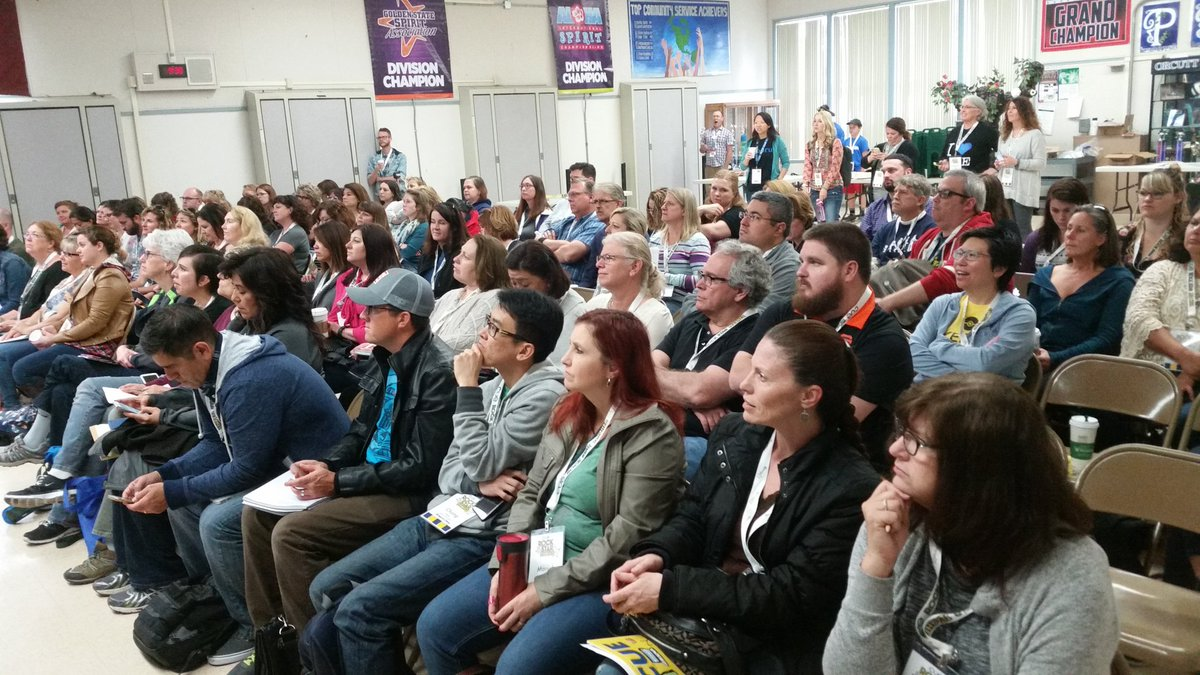 The room is full as we kick off an amazing weekend! #cuerockstar https://t.co/AckTHFEJ2c