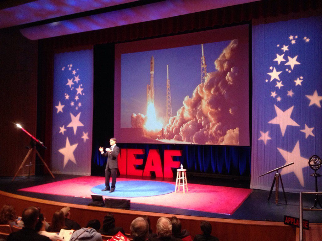 .@ulalaunch is considering recovering & reusing the 1st stage engines vs. the entire booster. #neaf https://t.co/gyOF30d84P