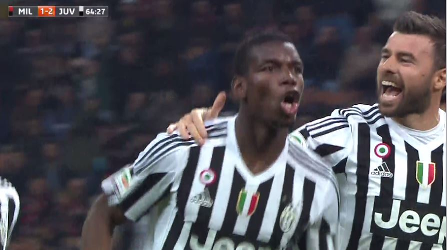 MILAN JUVENTUS Video: risultato con gol in rimonta di Mandzukic e Pogba
