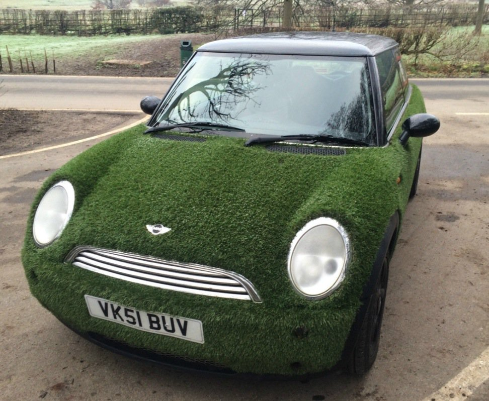 Weird Cars On Twitter Weird Astroturf Mini For Sale On Ebay Uk Perfect Suburban Camouflage Vehicle Https T Co 3akanzsccf Https T Co Sxjfwk6bp9