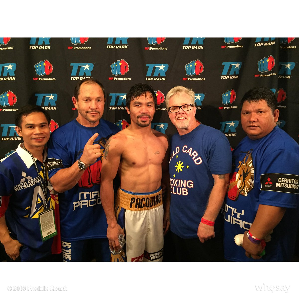 We won #TeamPacquiao @MannyPacquiaoTR @MannyPacquiao @TooFred #PacquaioBradley3 #WildCardBoxing https://t.co/b30qqj99fP