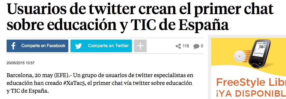 Primer Chat s/educació a Espanya: https://t.co/eSWaAEJ3UO @XaTac_5 de @LaVanguardia #chateducació #XaTac5BCN #xatac5 https://t.co/NkxTAHOWjS