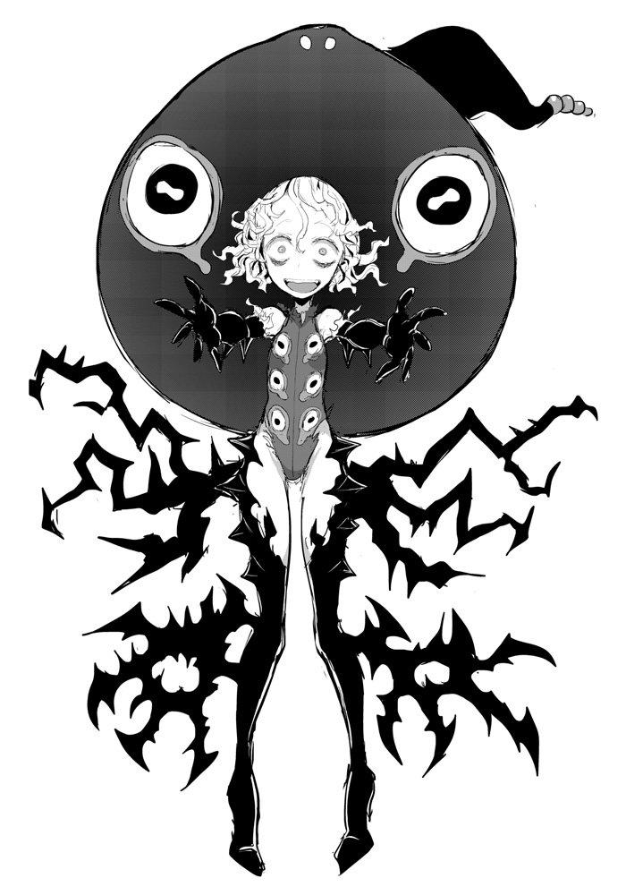 """創作魔女名鑑シリーズ """"怖いもの見たさの""""ヴィヴィリちゃん 相手のトラウマを纏うことで無敵状態になる「戦慄カモフラージュ」の使い手 ただしタネがバレたりトラウマを相対化されたり恐怖を克服されたりすると能力が無力化されてしまうのだ"""
