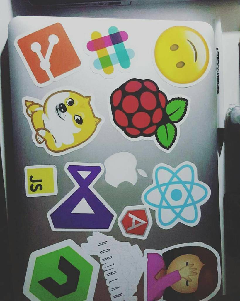 Adventures of Raspberry Pi — #repost that's a lot of stickers! Love the JS and…