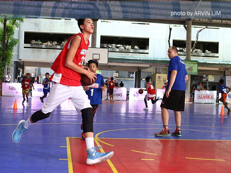 Look! 6 foot 9, 13-year old kyle sotto, son of pro player ervin sotto, at the jr. nba regional ...
