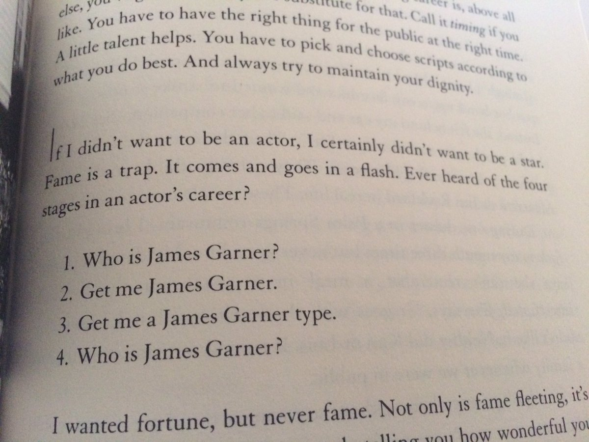 James Garner on the four stages of an actor's career https://t.co/ulpA0j16Ip