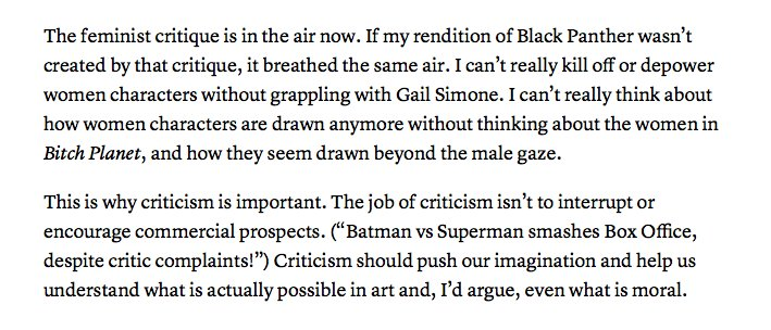 Ta-Nehisi Coates on our broken understanding of criticism: https://t.co/2xwZp62Iif https://t.co/NSNxXxAN1s