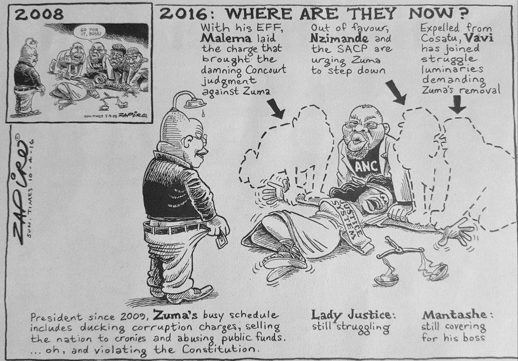 Where they now? 8 years on @zapiro revisits his no-holds--barred #Zuma rapes Lady Justice cartoon via @SundayTimesZA https://t.co/FezVt5Ua85