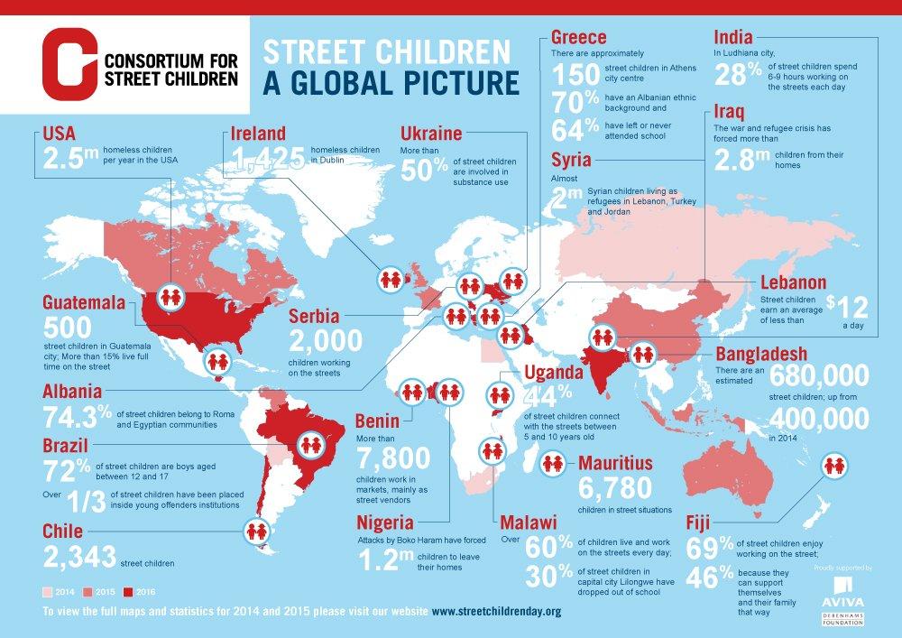 Street World Map.Csc On Twitter Street Children World Map 2016 A Global Challenge
