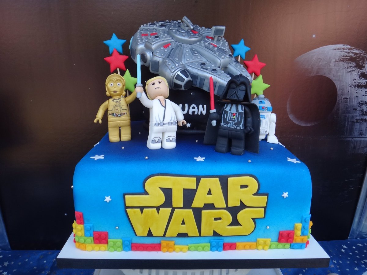 Admirable Luis Pena On Twitter Lego Star Wars Birthday Cake Of My Son Funny Birthday Cards Online Fluifree Goldxyz