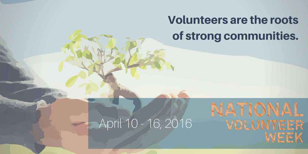 #NVW2016 is April 10-16. Thanks to #volunteers, our communities grow strong and resilient. https://t.co/ND7tC6j5kV