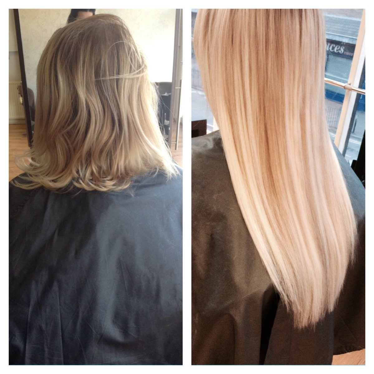 Micro ring extensions before and after
