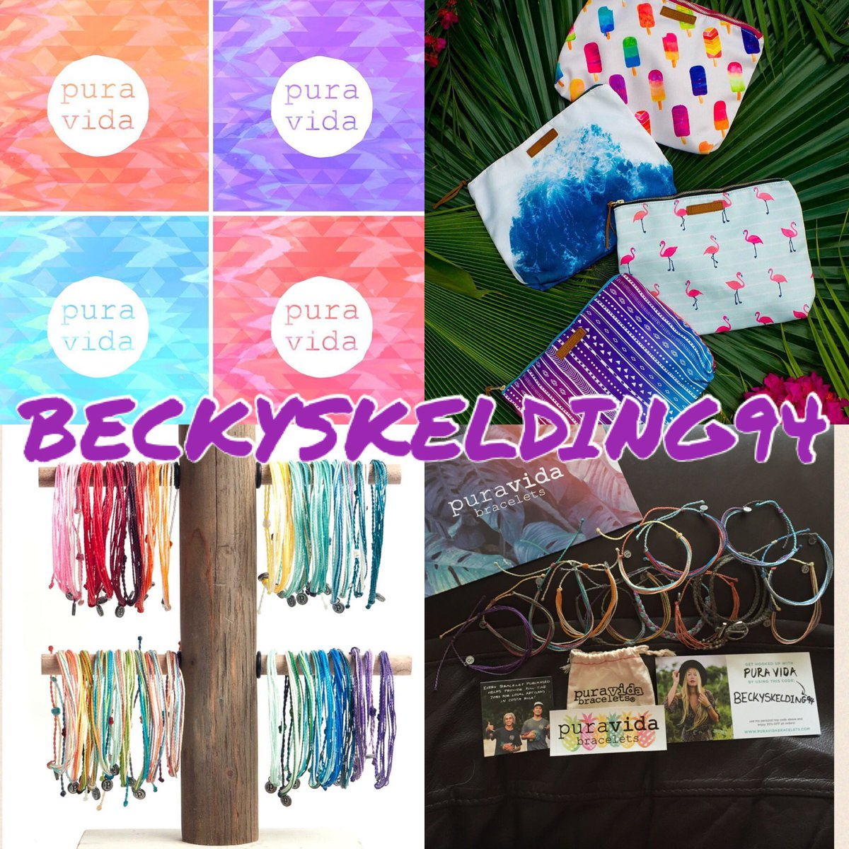 Cute anklets, bracelets, clutches etc take a look at @puravidabrac #puravida 20% off using code BECKYSKELDING94