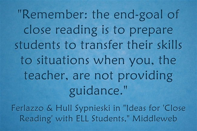 "Ideas 4 Close Reading w/ ELL Stdnts Is Excerpt From Our New Book"" https://t.co/gDfeRWfcjp #navCCELL thanx @middleweb https://t.co/AyOdLIJGaI"