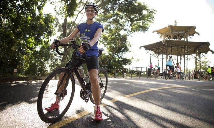 Ex-levantadora Fernanda Venturini treina para pedalar os 112km do L'Étape Brasil. https://t.co/HYJVU4DDon