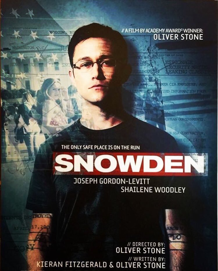 Image result for Snowden movie poster