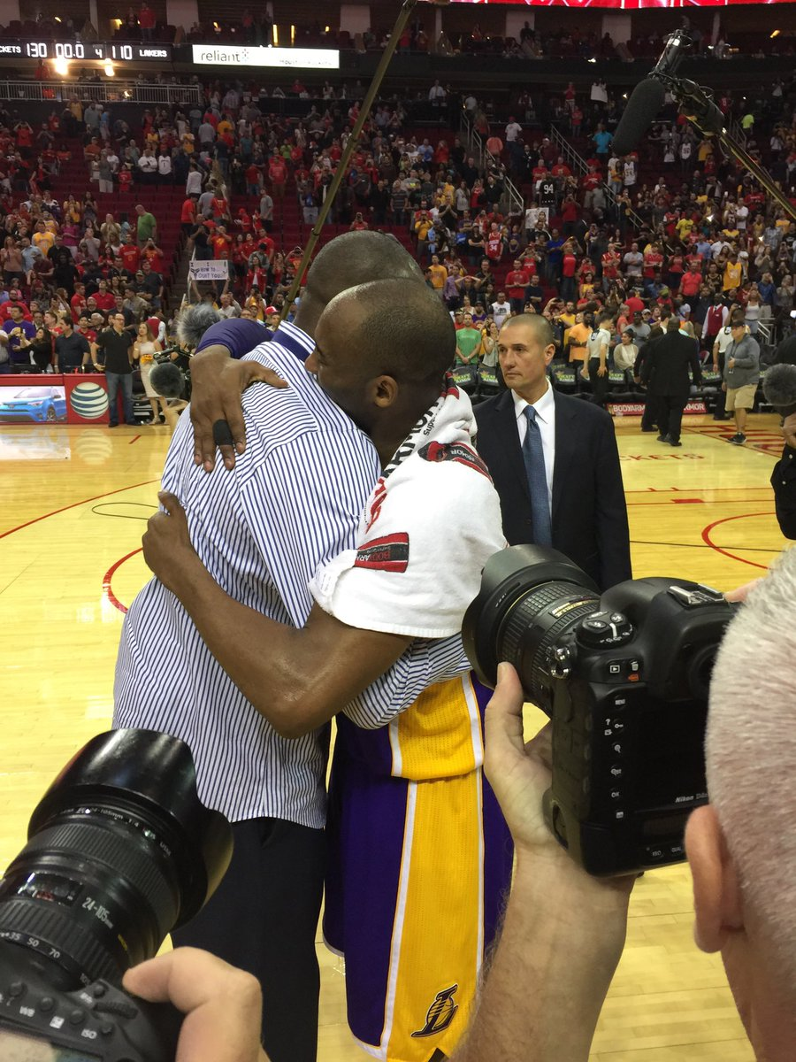 So happy to witness a great performance by @kobebryant in his last game in Houston @HoustonRockets #GoingOutInStyle