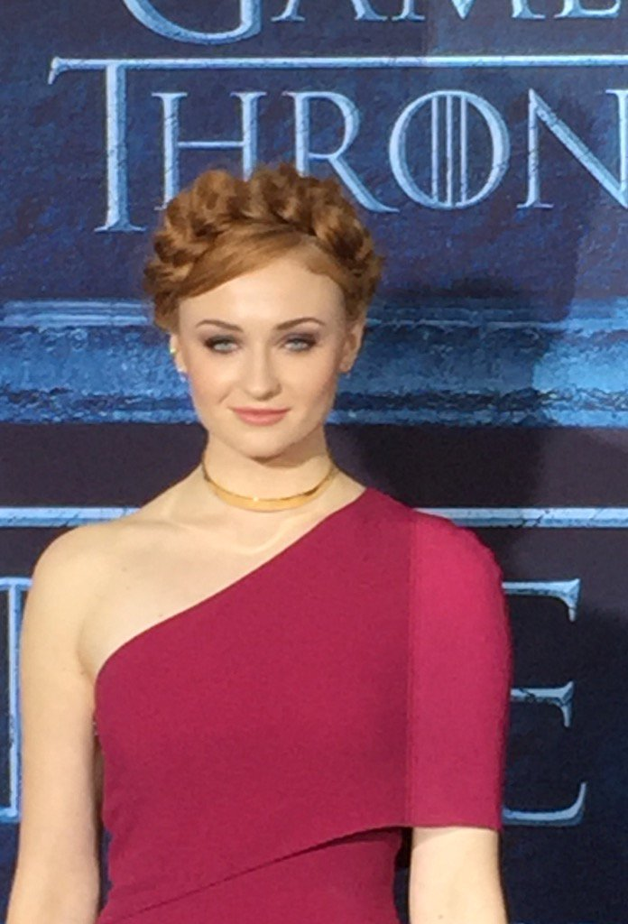 .@SophieT at the @GameOfThrones premiere https://t.co/Z3yXiirAr9