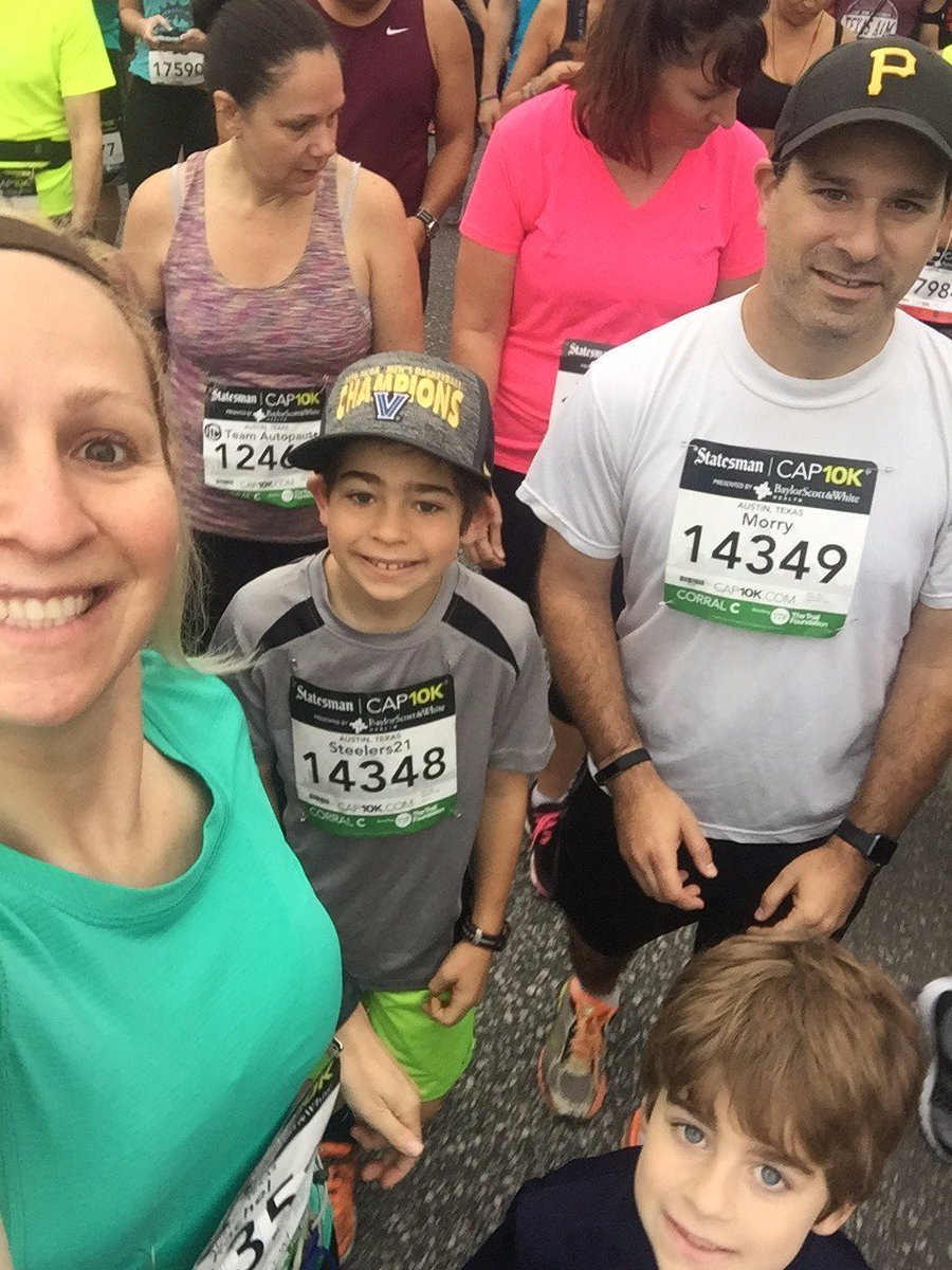 The whole family did the #cap10k this morning.  Proud of my boys!  It was a fun morning.  Love the #ATX. #LifeIsGood https://t.co/H0tb6OwzLT