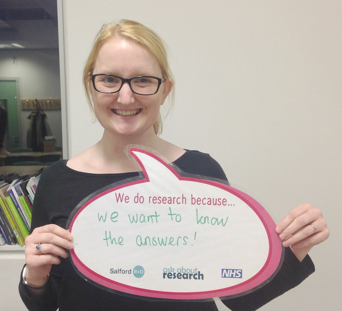 We're celebrating #artinresearch project with @MccirUoM + @SABSalford tonight - here's Amy with her #whywedoresearch https://t.co/8XbRMXFp7r