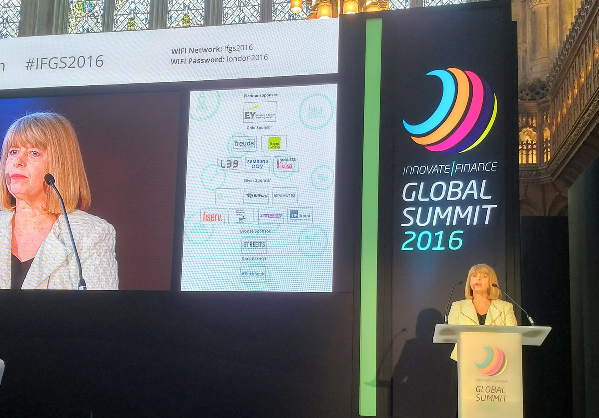 .@HBaldwinMP announcing even more HMG initiatives to ensure the UK remains best in the world for fintech #IFGS2016 https://t.co/XlK0DHD614