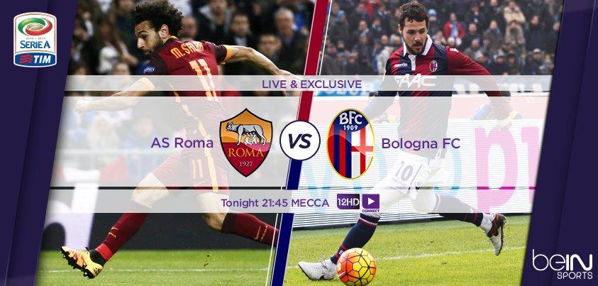 Streaming ROMA BOLOGNA Gratis : vedere Diretta Calcio LIVE Oggi in TV