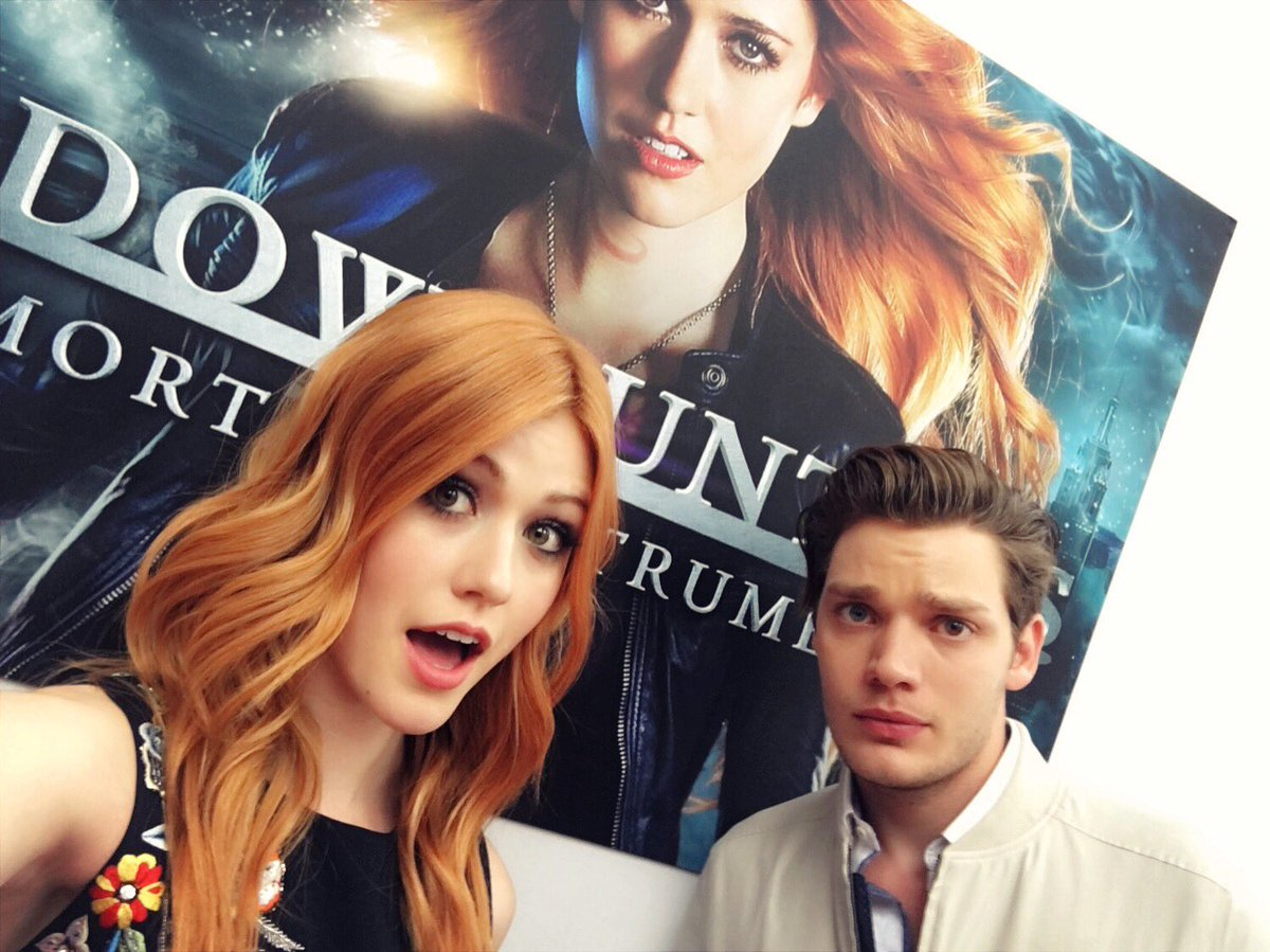 Bonjour! @Shadowhunterstv press day for #NETFLIX with @DomSherwood1!