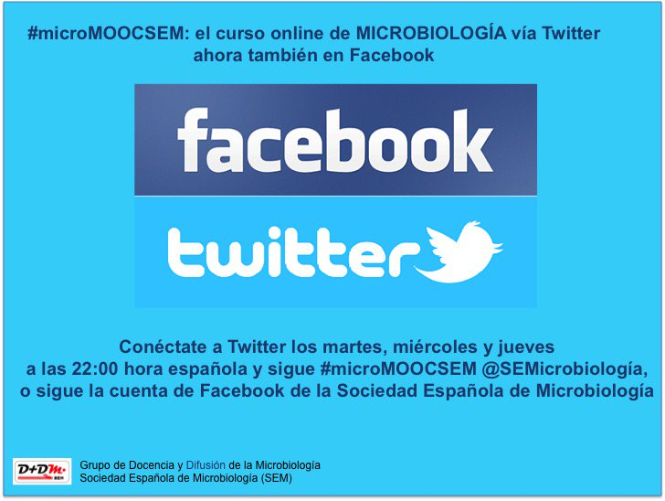 Recuerda que puedes seguir la clase #microMOOCSEM también por Facebook o siguiendo la cuenta @SEMicrobiologia https://t.co/lYss9KElr8