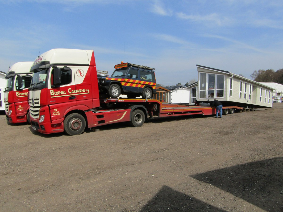 Omar Park Homes On Twitter Ever Wondered How We Move Our Lodges And Heres An Ikon Home Being Loaded Leaving For Site