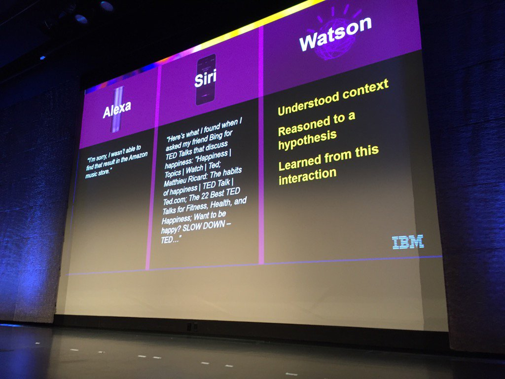 How Watson differs from Siri and Alexa #Ibm #Outthink https://t.co/tGqhzyv03u