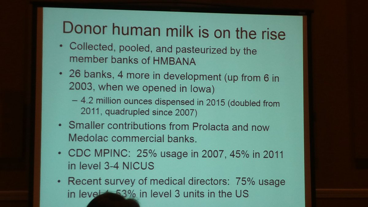 #donormilk #miraclemilk is on the rise!! #hmbana2016 Five times as many banks as in 2003!! @hmbana4babies is AMAZING https://t.co/QCIRKAEmcM