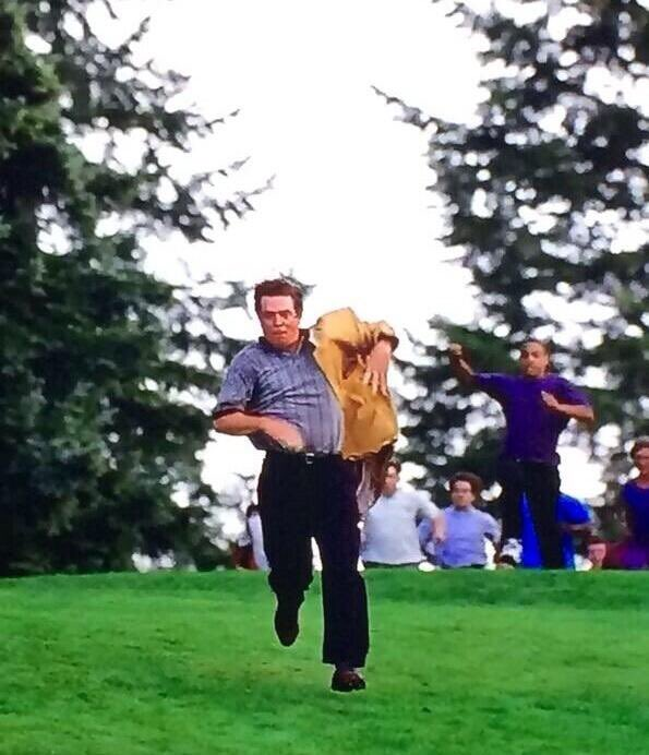 If @JordanSpieth wasn't as classy as he is this could've been the scene at Augusta ystrday #happygilmore #goldjacket https://t.co/pIHklZoCs4