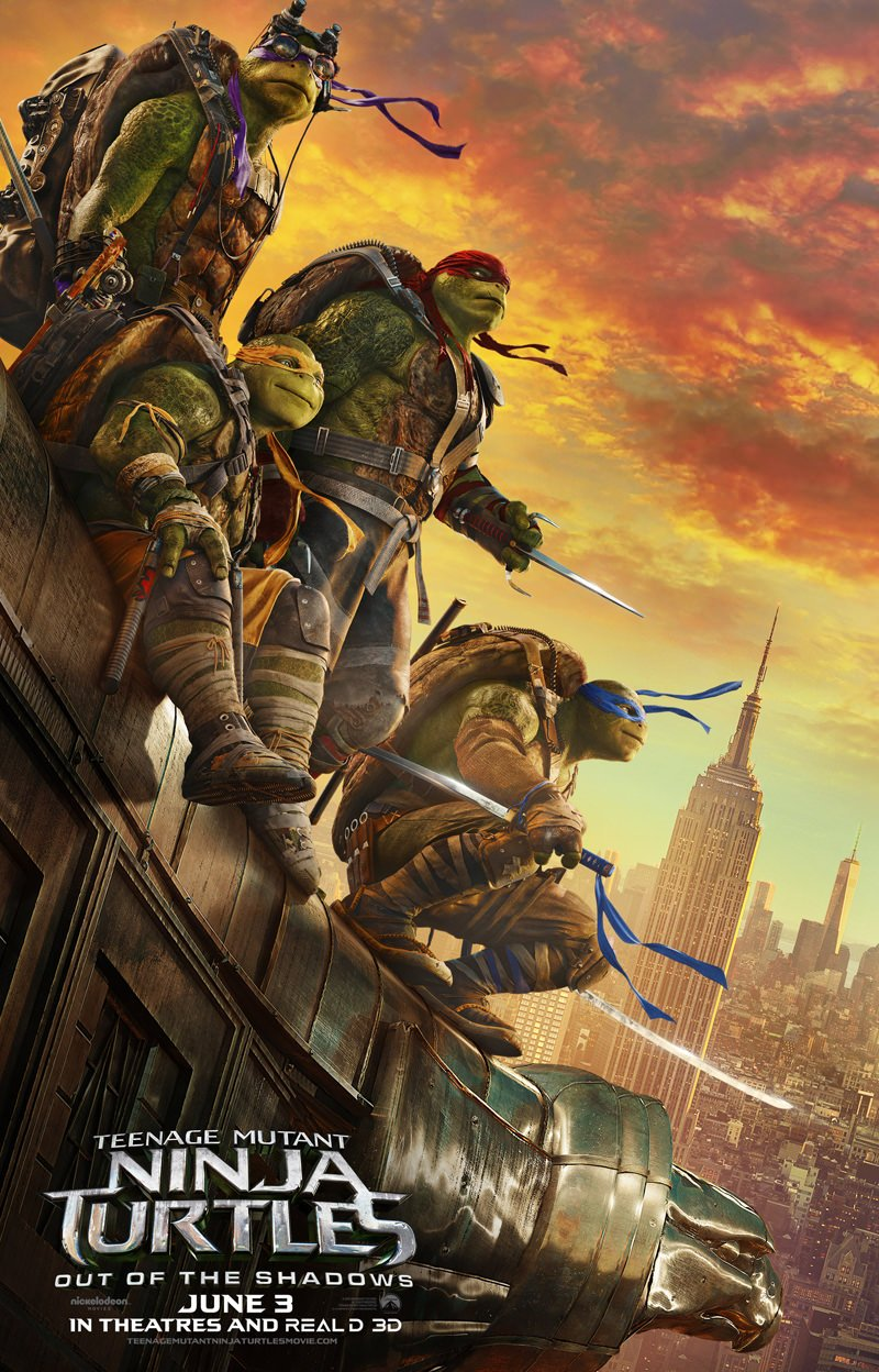 New Teenage Mutant Ninja Turtles: Out of the Shadows Trailer & Poster 1