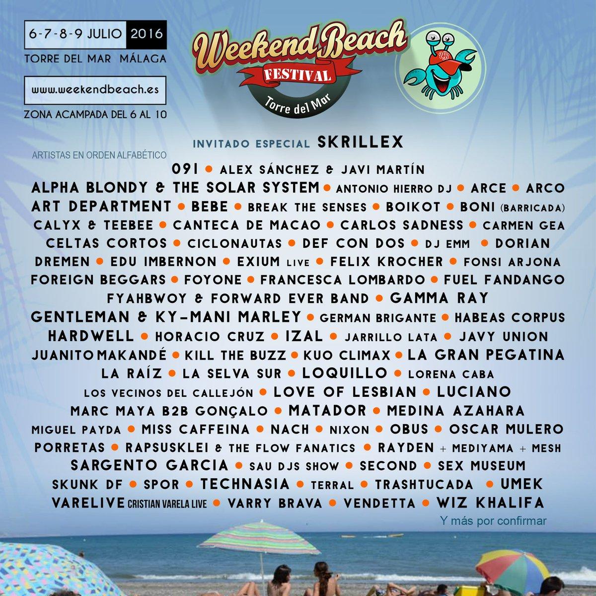 Weekend Beach Festival On Twitter Recuperándonos Del Infarto Weekendbeach Festival Será Muy Muy épico Gotorredelmar Https T Co Qs1l1wvxhy