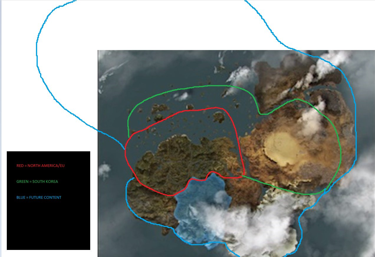 Black desert online on twitter we got a bit creative with ms paint black desert online on twitter we got a bit creative with ms paint hope you like it circled in red is the current size of the game world gumiabroncs Image collections