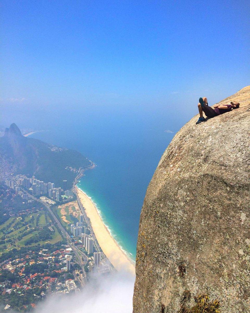 Afternoon nap on Pedra da Gávea, Rio de Janeiro, Brazil   Photo by @wellboldrini