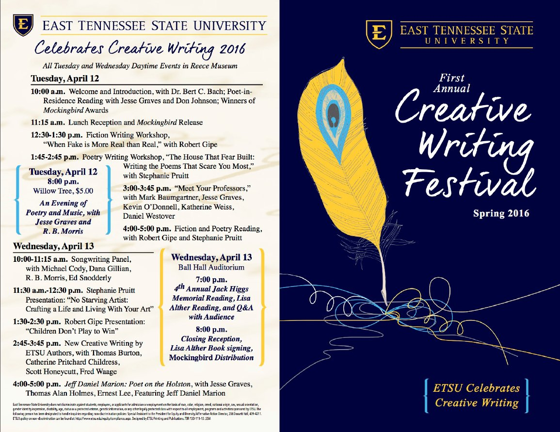 etsu creative writing festival