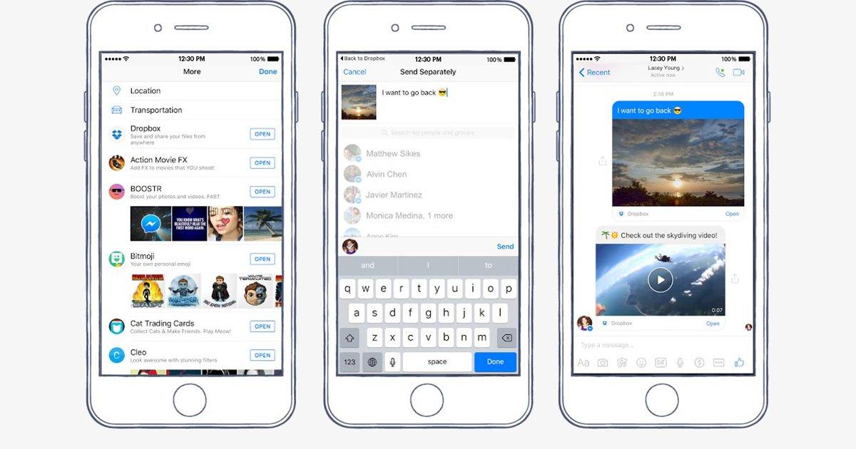 Facebook Messenger makes sharing Dropbox files easier